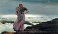 A Light on the Sea painting reproduction, Winslow Homer