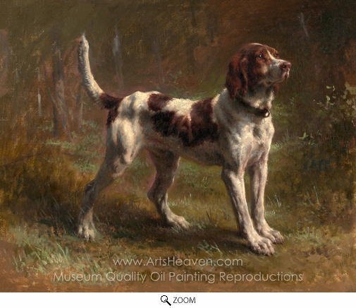Rosa Bonheur, A Limier Briquet Hound oil painting reproduction