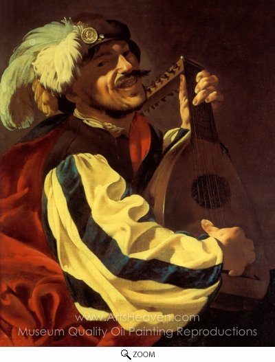 Hendrick Ter Brugghen, A Lute Player oil painting reproduction
