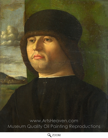 Italian Painter, A Man in Black oil painting reproduction