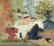 A Modern Olympia painting reproduction, Paul Cézanne