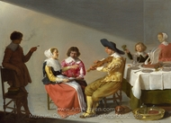 A Musical Party painting reproduction, Jacob Van Velsen