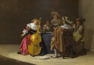 A Musical Party painting reproduction, Jan Olis