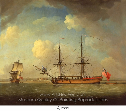Charles Brooking, A Naval Snow oil painting reproduction