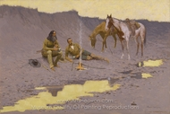 A New Year on the Cimarron painting reproduction, Frederic Remington