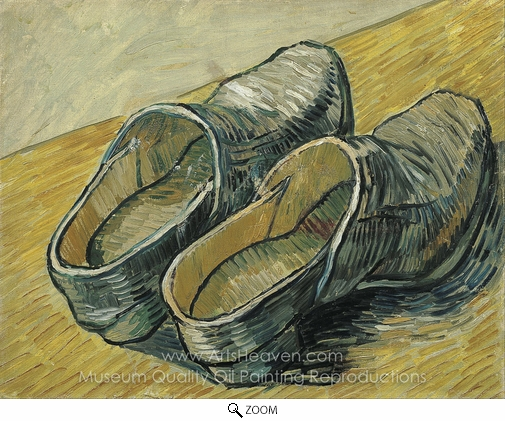 Vincent Van Gogh, A Pair of Leather Clogs oil painting reproduction