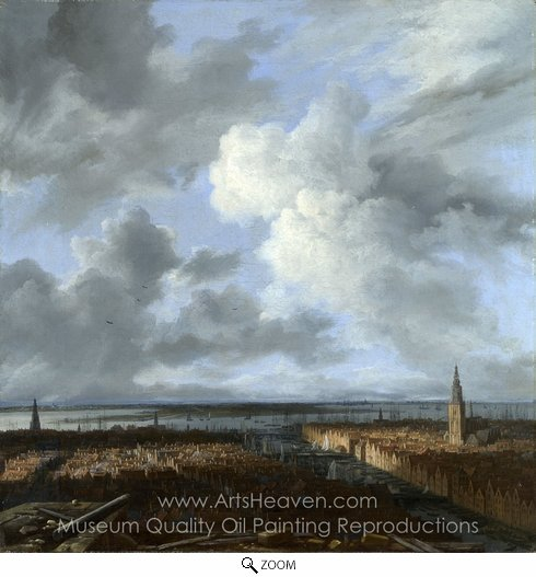 Jacob Van Ruisdael, A Panoramic View of Amsterdam Looking Towards the Ij oil painting reproduction