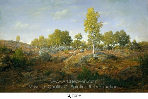 Theodore Rousseau, A Path among the Rocks oil painting reproduction