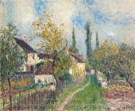 A Path at Les Sablons painting reproduction, Alfred Sisley