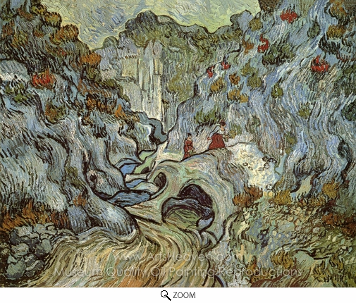 Vincent Van Gogh, A Path through a Ravine oil painting reproduction