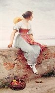 A Pensive Moment painting reproduction, Eugene De Blaas