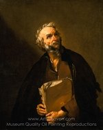 A Philosopher painting reproduction, Jusepe De Ribera
