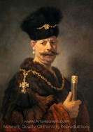 A Polish Nobleman painting reproduction, Rembrandt Van Rijn
