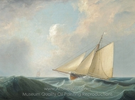 A Racing Cutter of the Royal Yacht Squadron painting reproduction, John Lynn