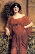 A Roman Matron painting reproduction, John William Godward