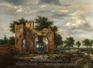 A Ruined Castle Gateway painting reproduction, Jacob Van Ruisdael