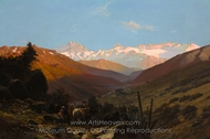 A Scene in the Andes, Chile painting reproduction, Thomas Jacques Somerscales