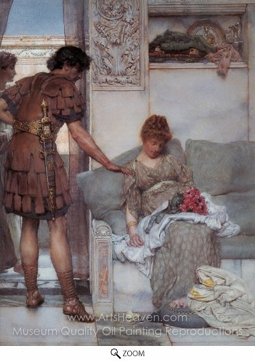 Sir Lawrence Alma-Tadema, A Silent Greeting oil painting reproduction