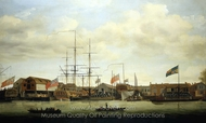 A Small Shipyard on the Thames painting reproduction, Francis Holman