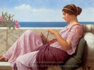 A Souvenir painting reproduction, John William Godward