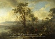 A Stag Hunt painting reproduction, Philips Wouwerman