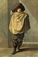 A Standing Man painting reproduction, Pieter Quast