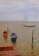 A Stormy Day, Bath Beach painting reproduction, William Merritt Chase
