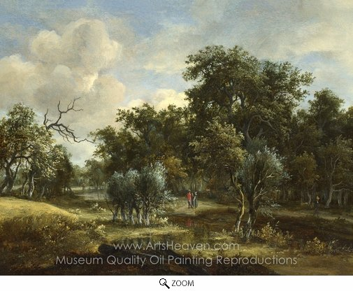 Meindert Hobbema, A Stream by a Wood oil painting reproduction