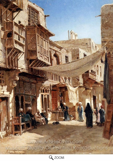 John Varley, A Street in Boulaq Near Cairo oil painting reproduction