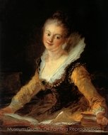 A Study painting reproduction, Jean-Honore Fragonard