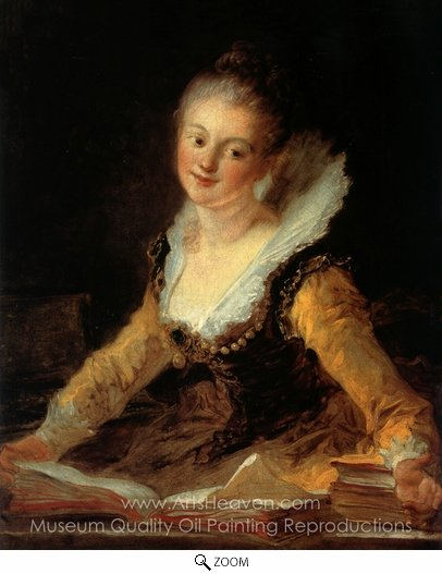 Jean-Honore Fragonard, A Study oil painting reproduction