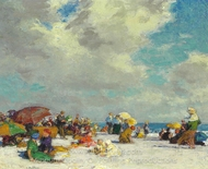 A Summer Afternoon painting reproduction, Edward Henry Potthast