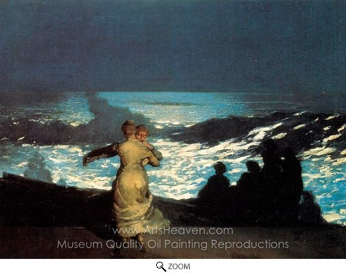 Winslow Homer, A Summer Night oil painting reproduction