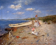 A Sunny Day at Shinnecock Bay painting reproduction, William Merritt Chase