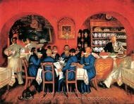 A Tavern in Moscow painting reproduction, Boris Kustodiev