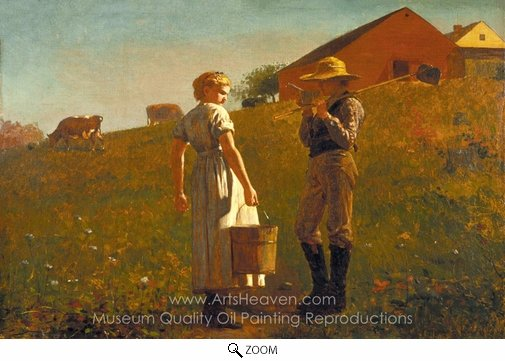 Winslow Homer, A Temperance Meeting (Noon Time) oil painting reproduction