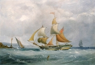 A Trading Brig Entering the Bristol Avon painting reproduction, Joseph Walter