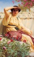 A Tryst painting reproduction, John William Godward