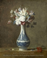 A Vase of Flowers painting reproduction, Jean Simeon Chardin
