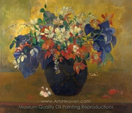 A Vase of Flowers painting reproduction, Paul Gauguin