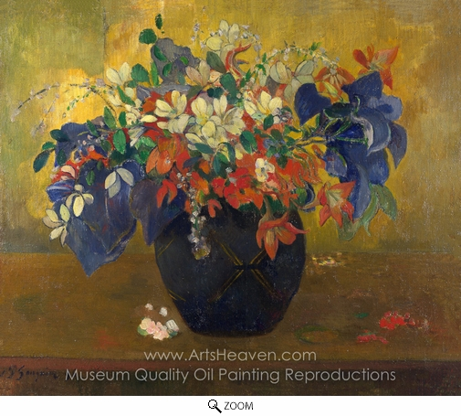 Paul Gauguin, A Vase of Flowers oil painting reproduction