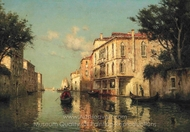 A Venetian Backwater painting reproduction, Antoine Bouvard