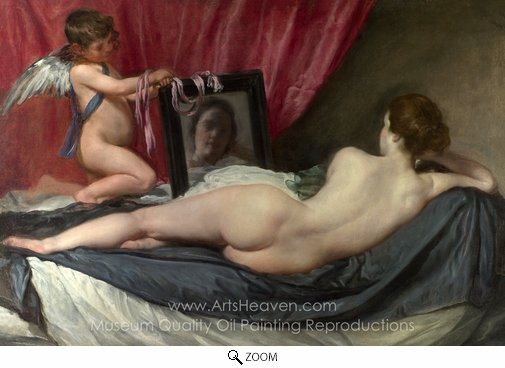 Diego Velazquez, A Venus at Her Mirror oil painting reproduction