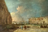 A View Near Venice painting reproduction, Francesco Guardi