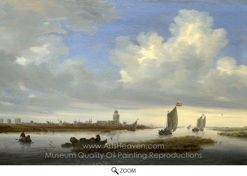Salomon Van Ruysdael, A View of Deventer Seen from the North-West oil painting reproduction
