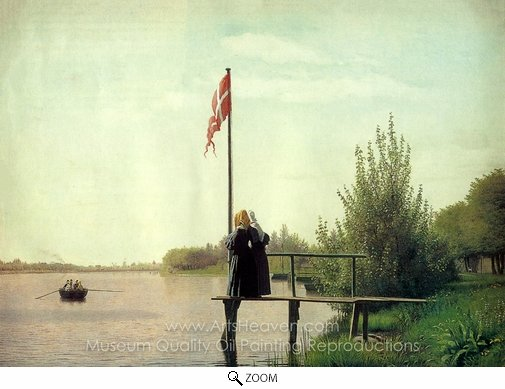 Christen Kobke, A View of One of the Lakes in Copenhagen oil painting reproduction