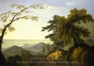 A View of the Island of New Caledonia in the South painting reproduction, William Hodges