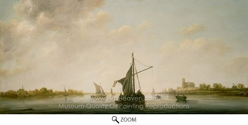 Aelbert Cuyp, A View of the Maas at Dordrecht oil painting reproduction