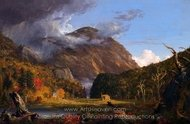 A View of the Mountain Pass painting reproduction, Thomas Cole