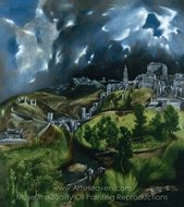 View of Toledo painting reproduction, El Greco